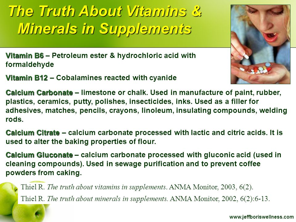 The Truth About Vitamins & Minerals in Supplements