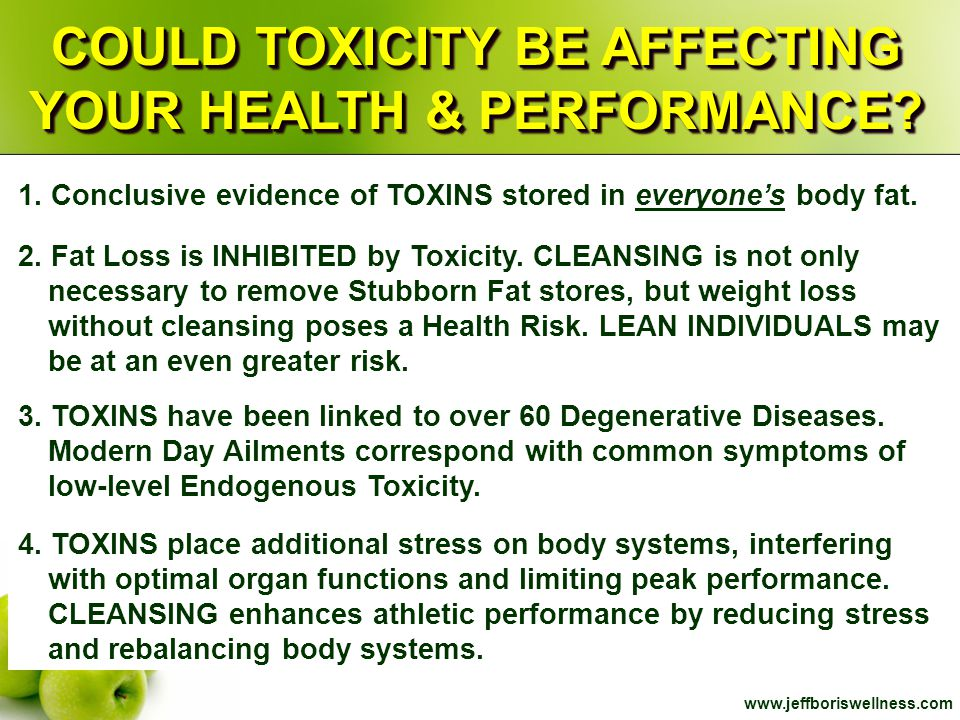 COULD TOXICITY BE AFFECTING YOUR HEALTH & PERFORMANCE
