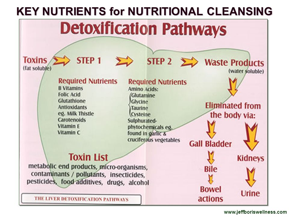 KEY NUTRIENTS for NUTRITIONAL CLEANSING
