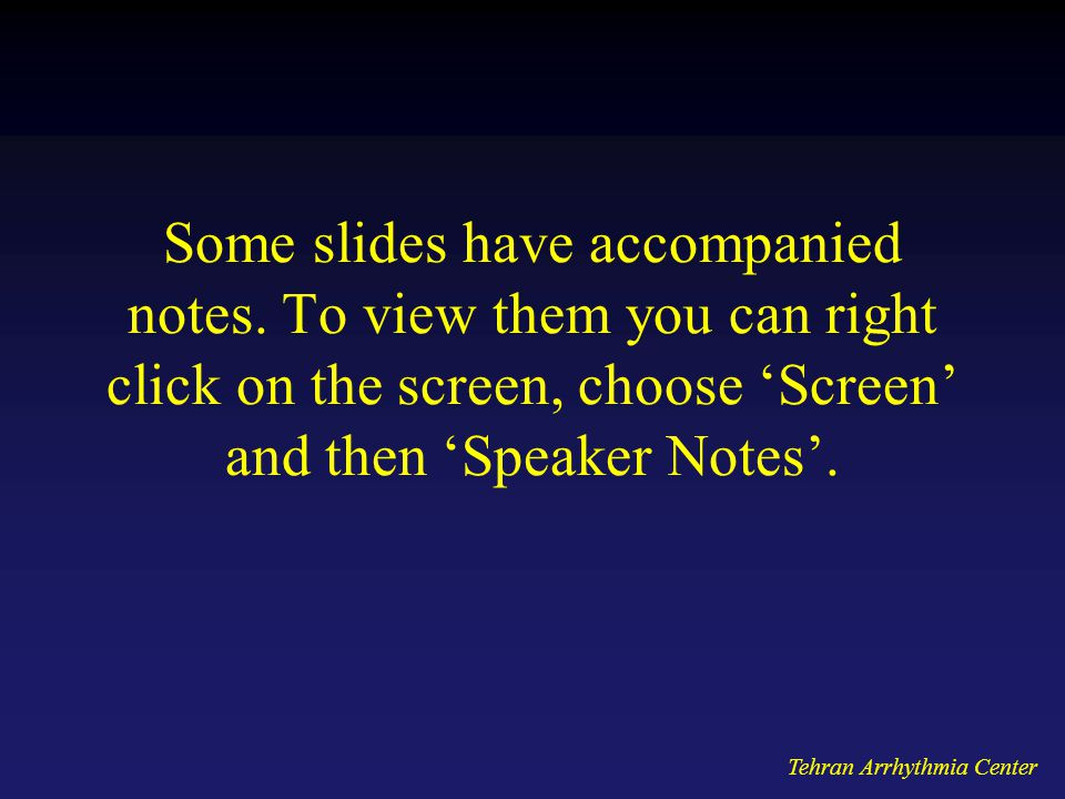 Some slides have accompanied notes