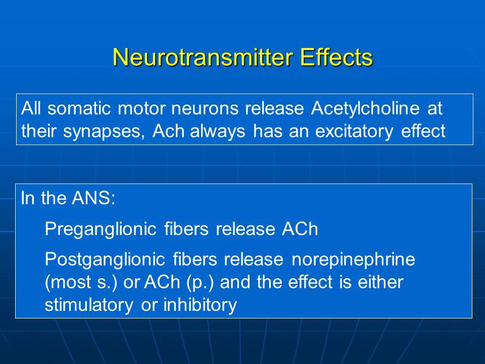 Neurotransmitter Effects
