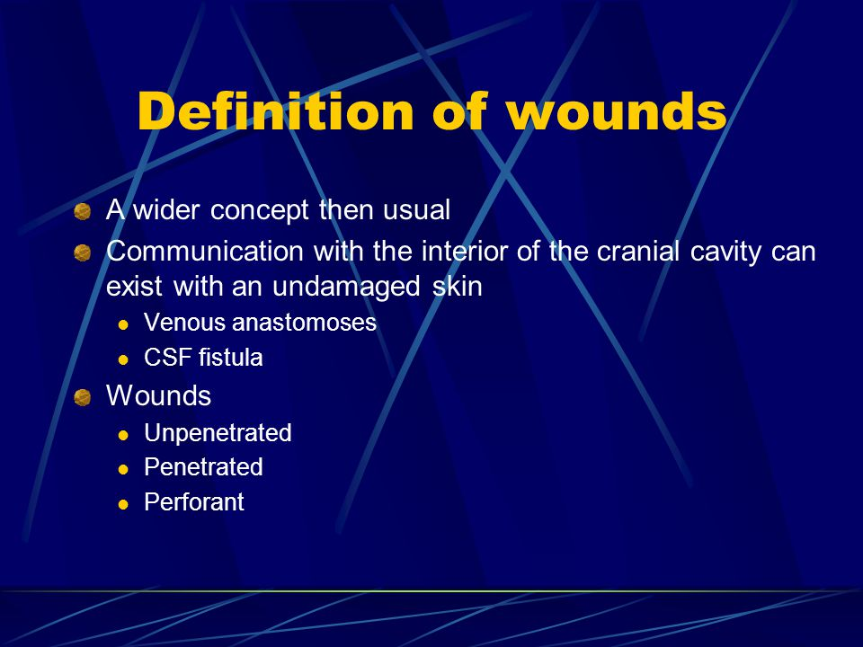 Definition of wounds A wider concept then usual
