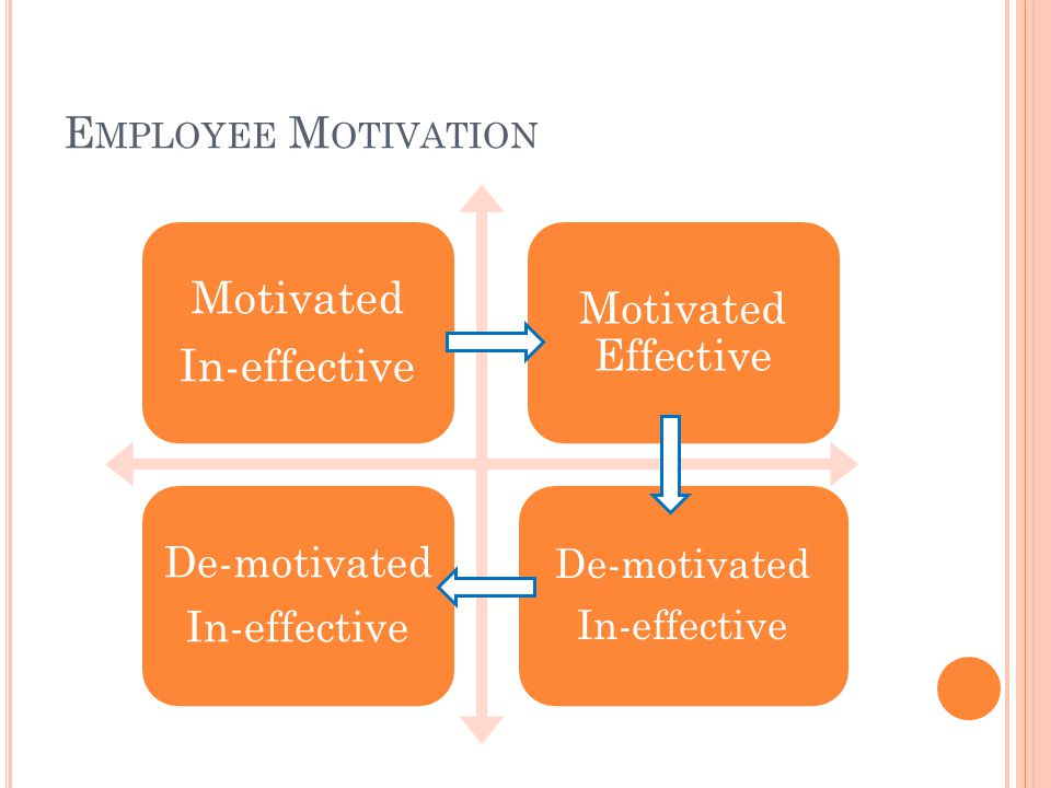 Employee Motivation In-effective Motivated Motivated Effective