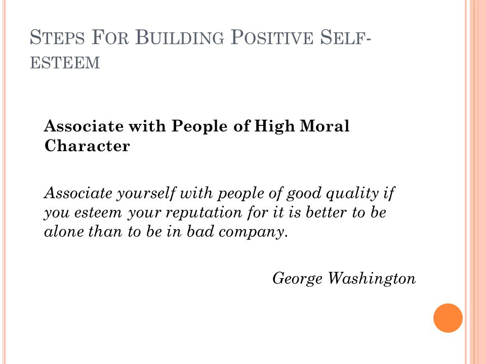 Steps For Building Positive Self-esteem