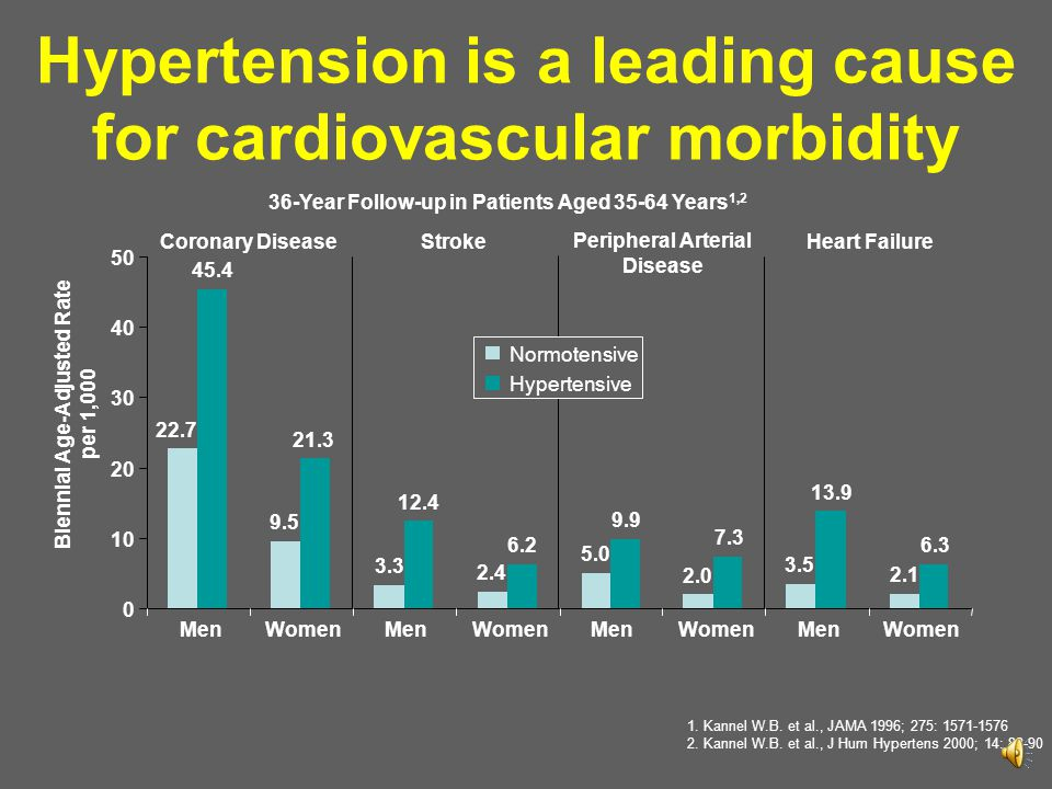 Hypertension is a leading cause for cardiovascular morbidity