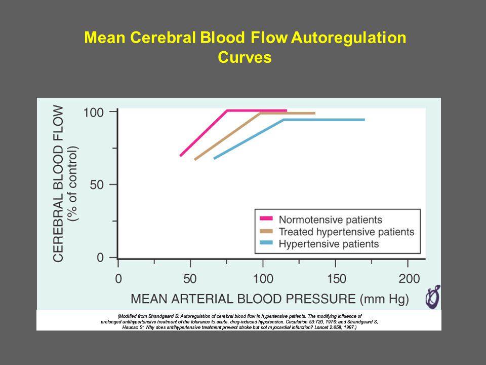 Mean Cerebral Blood Flow Autoregulation Curves