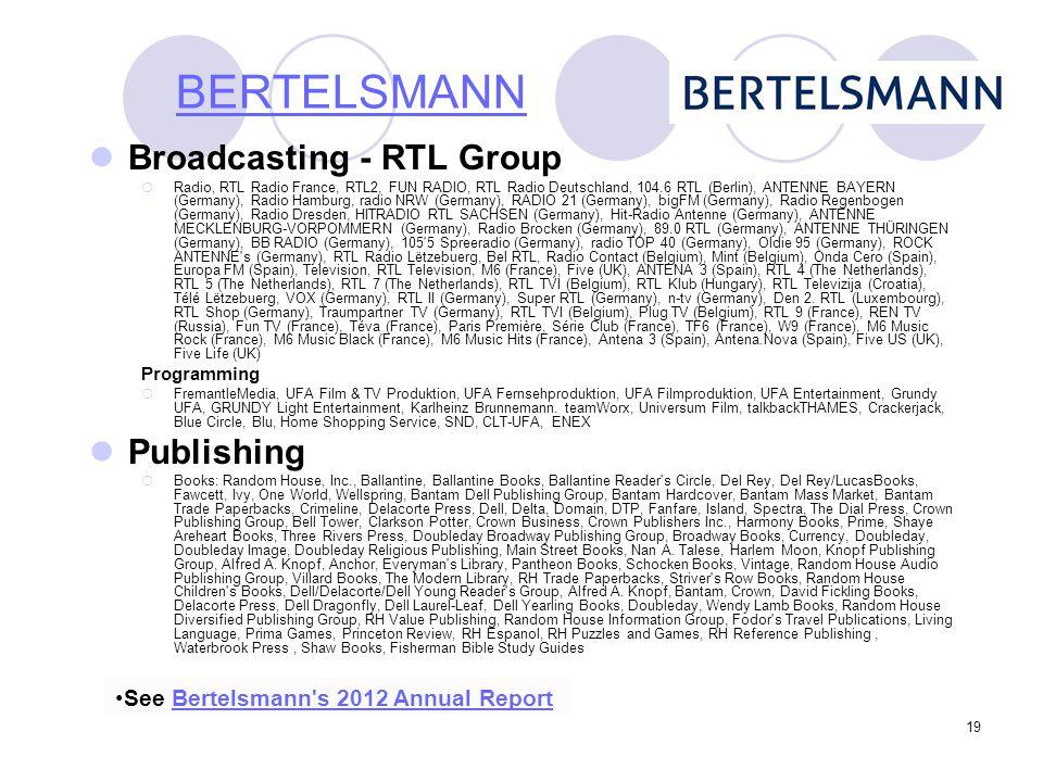 BERTELSMANN Broadcasting - RTL Group Publishing