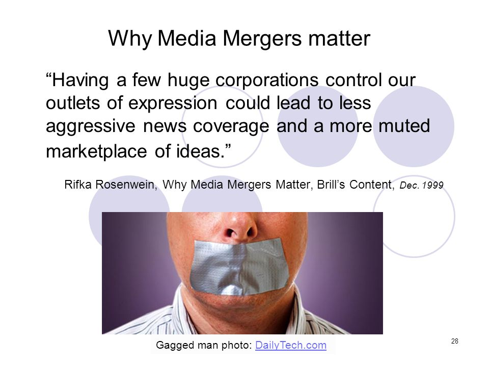 Why Media Mergers matter
