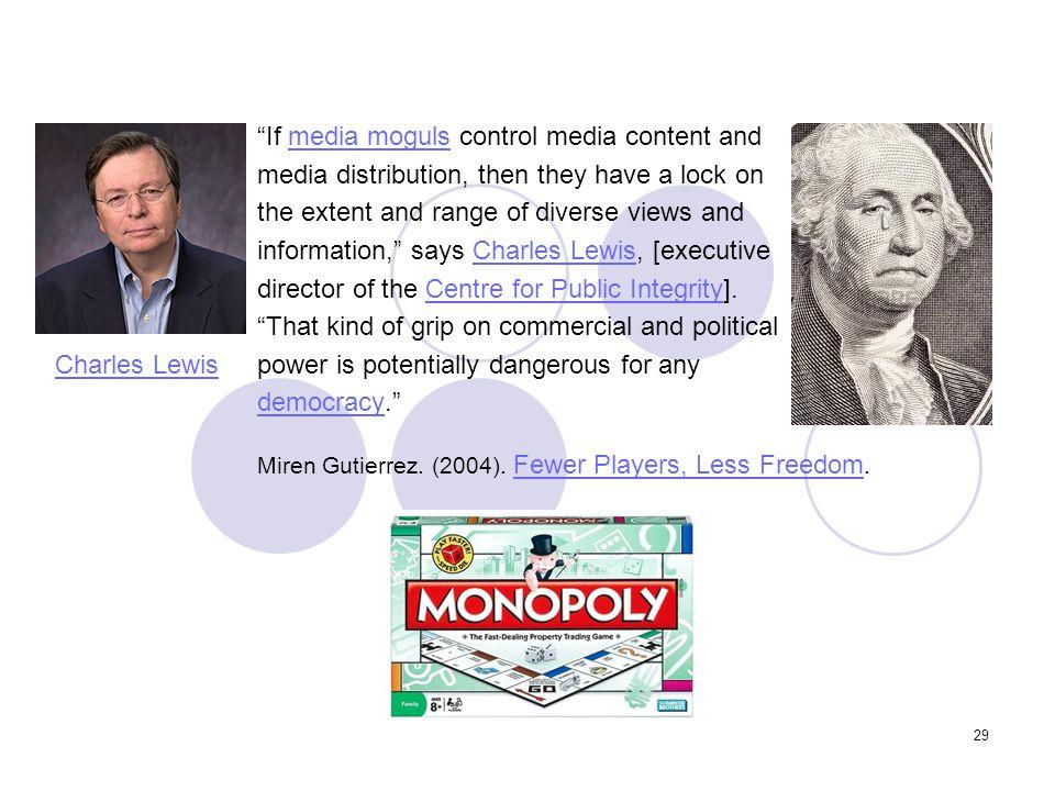 If media moguls control media content and