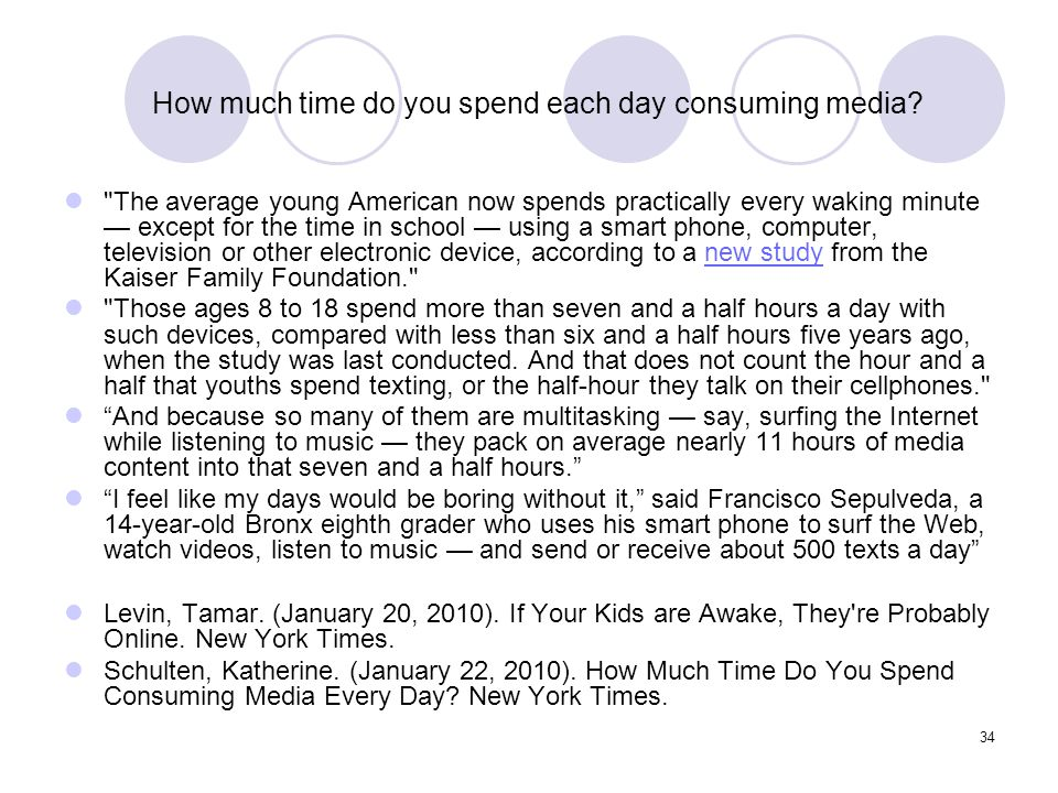 How much time do you spend each day consuming media