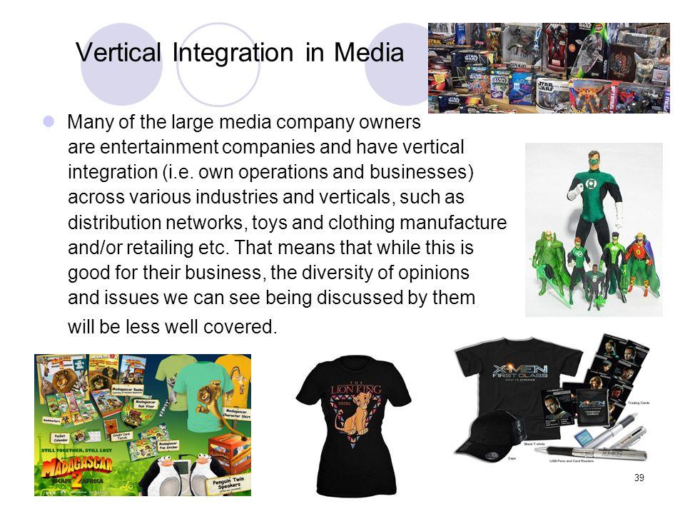 Vertical Integration in Media