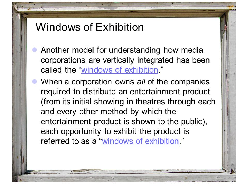 Windows of Exhibition Windows of Exhibition