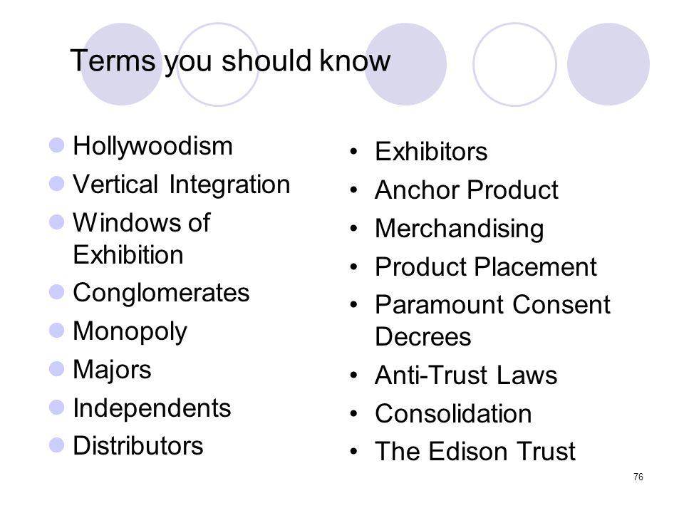Terms you should know Hollywoodism Exhibitors Vertical Integration
