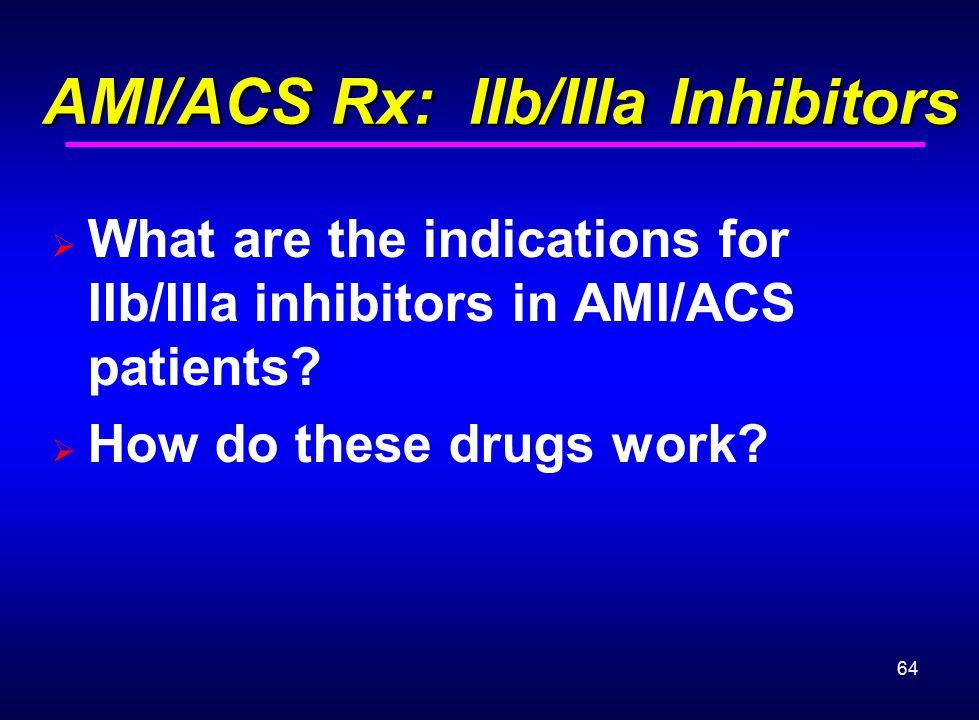 AMI/ACS Rx: IIb/IIIa Inhibitors