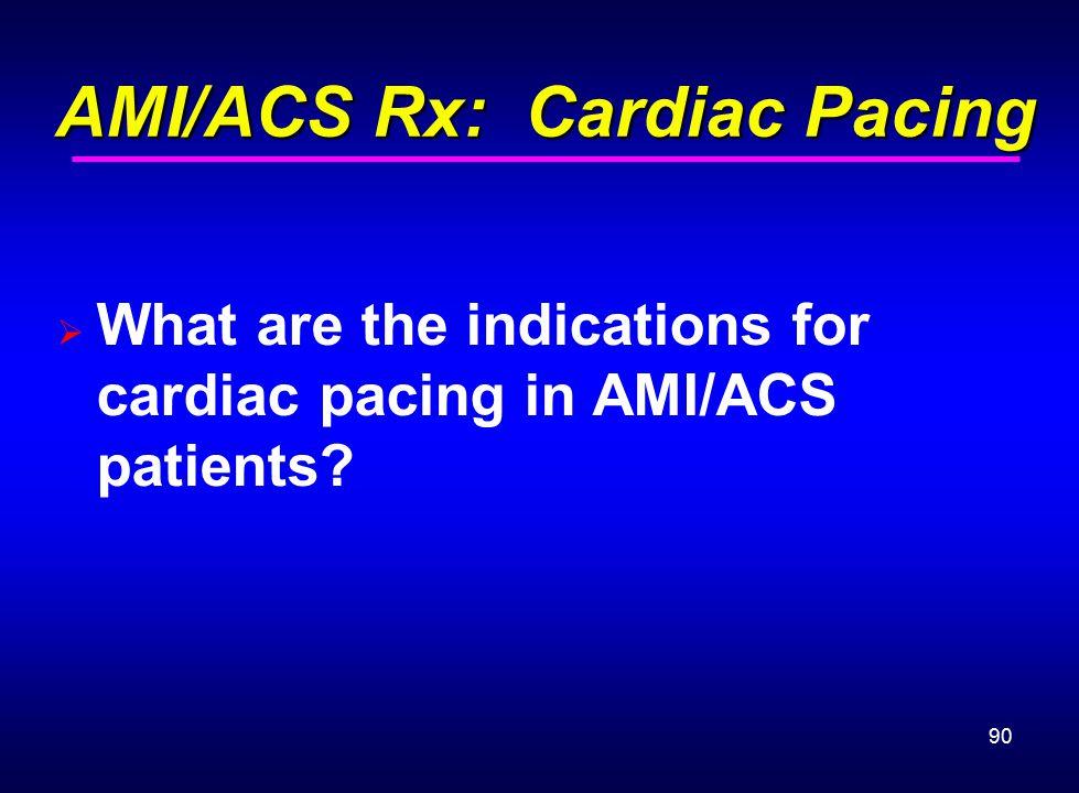 AMI/ACS Rx: Cardiac Pacing