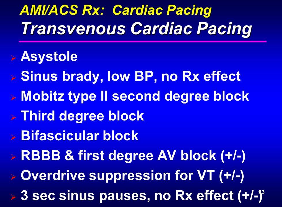 AMI/ACS Rx: Cardiac Pacing Transvenous Cardiac Pacing