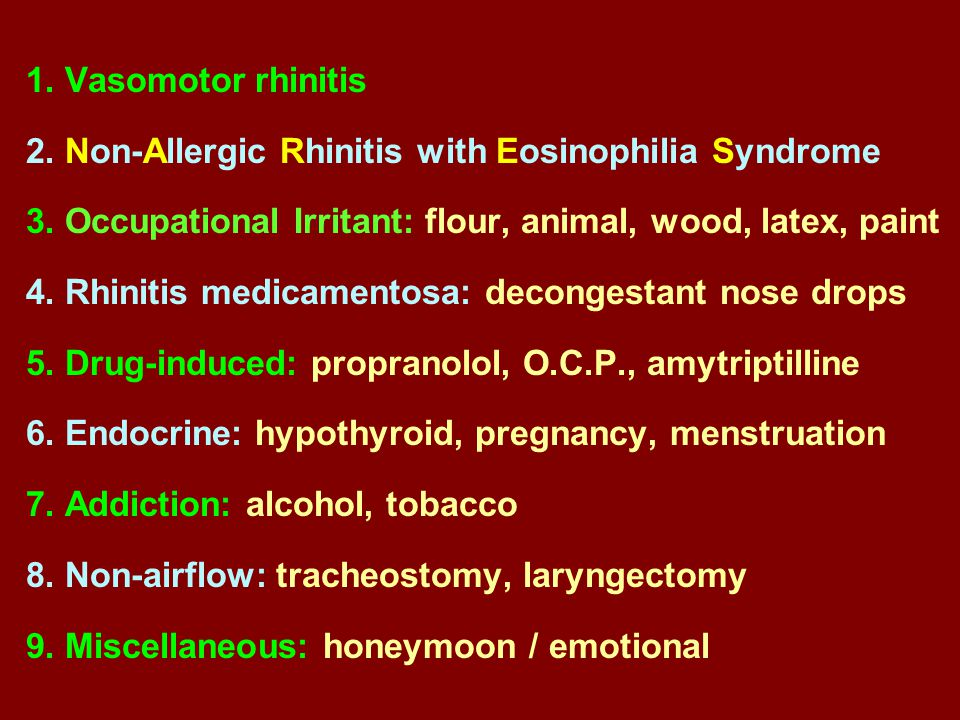 Non Infective Non Allergic Rhintis Ppt Video Online Download