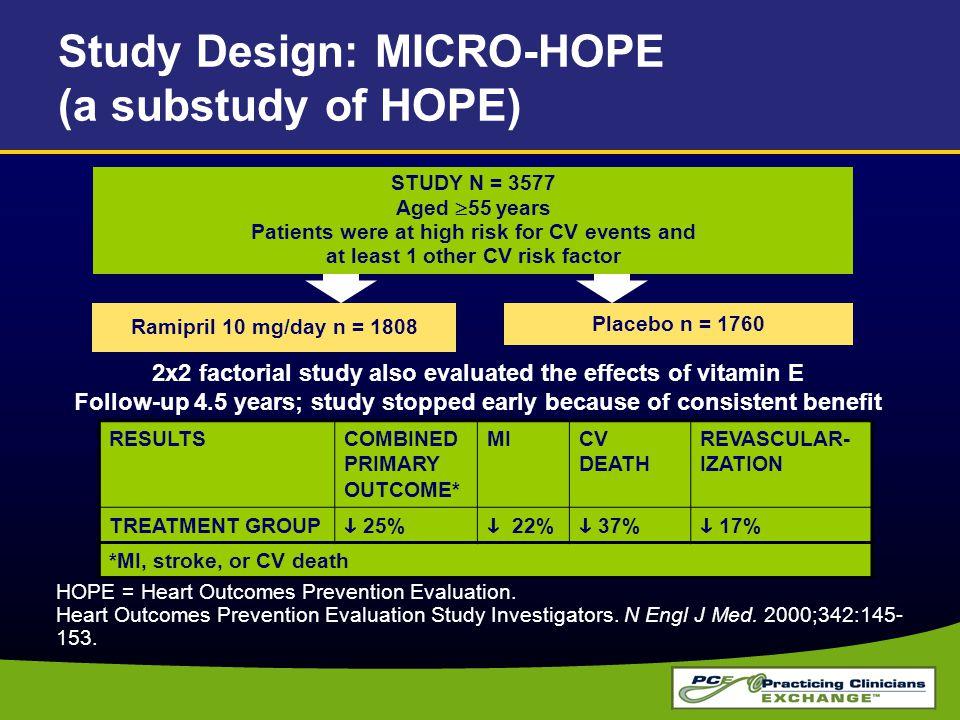 Study Design: MICRO-HOPE (a substudy of HOPE)