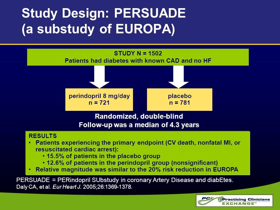 Study Design: PERSUADE (a substudy of EUROPA)