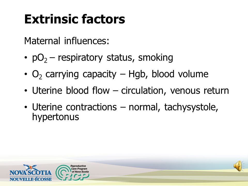 Extrinsic factors Maternal influences: