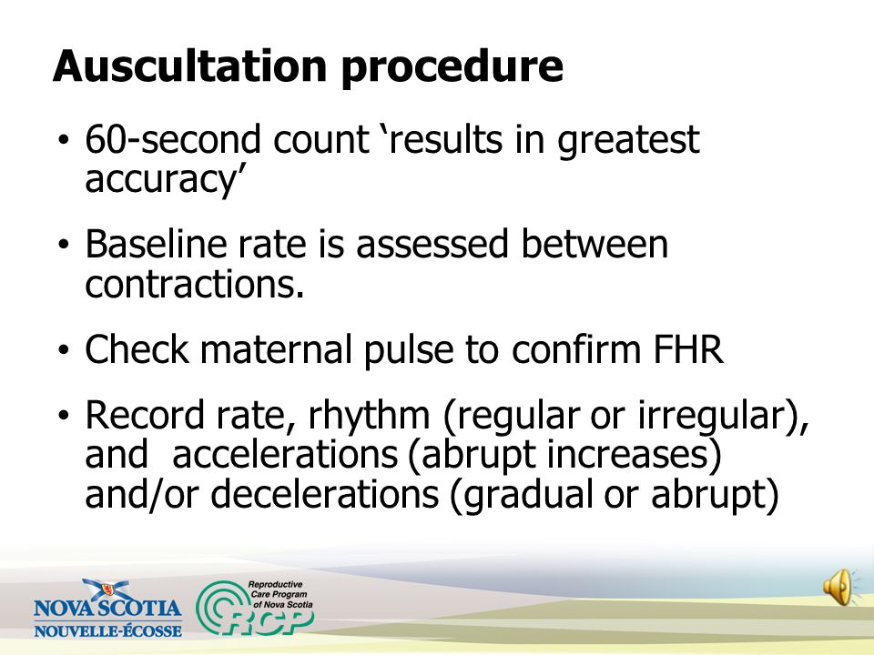 Auscultation procedure