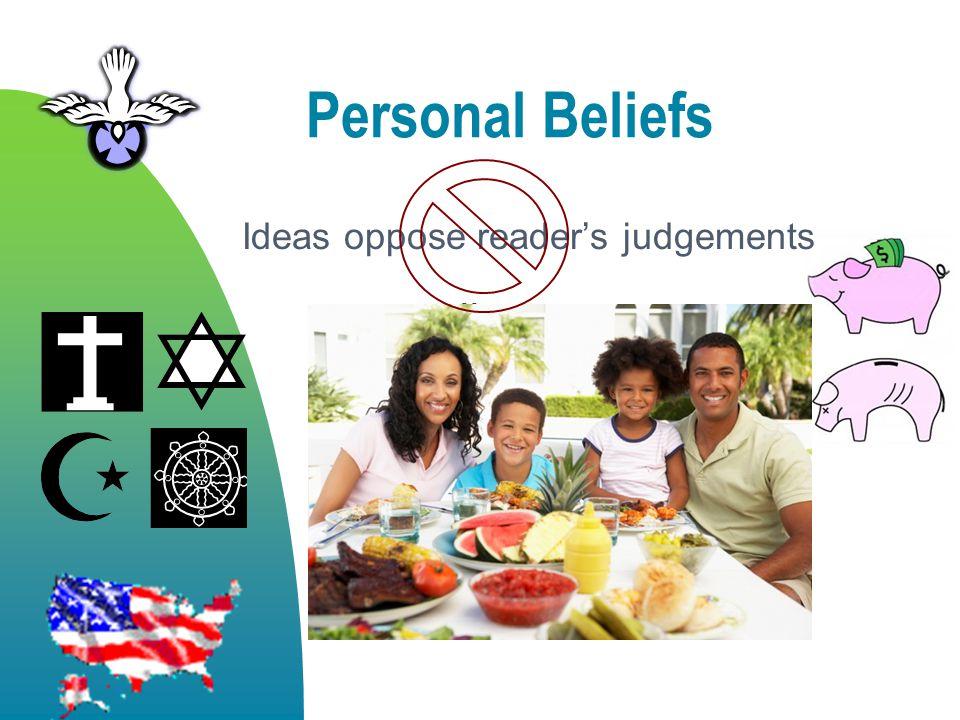 Personal Beliefs morality religion politics and economics