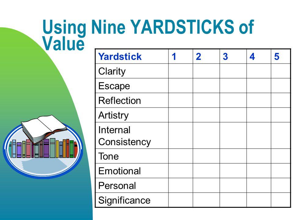 Using Nine YARDSTICKS of Value