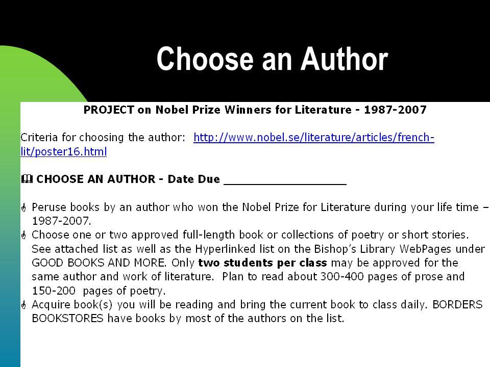 Choose an Author