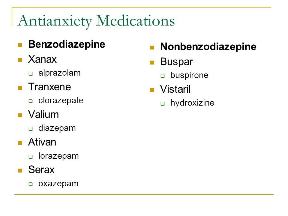 Antianxiety Medications