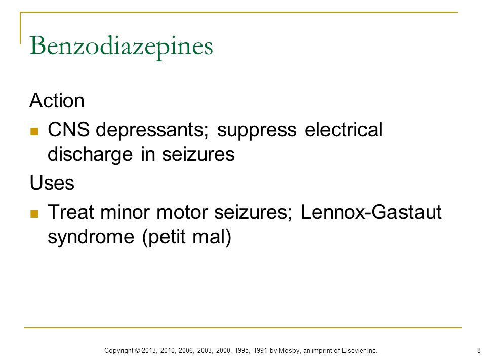 Benzodiazepines Action