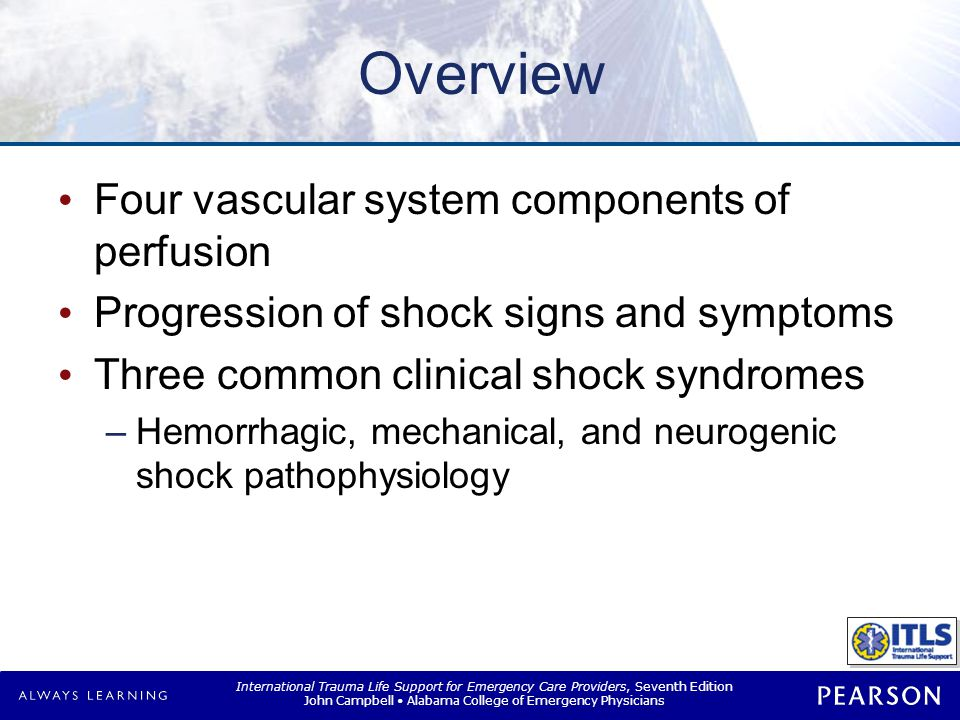 Overview Controllable and uncontrollable hemorrhage, nonhemorrhagic shock syndromes. Hemostatic agents.