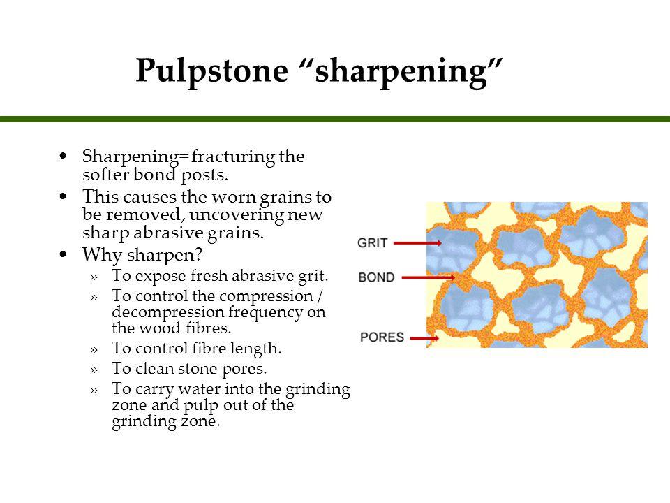 Pulpstone sharpening