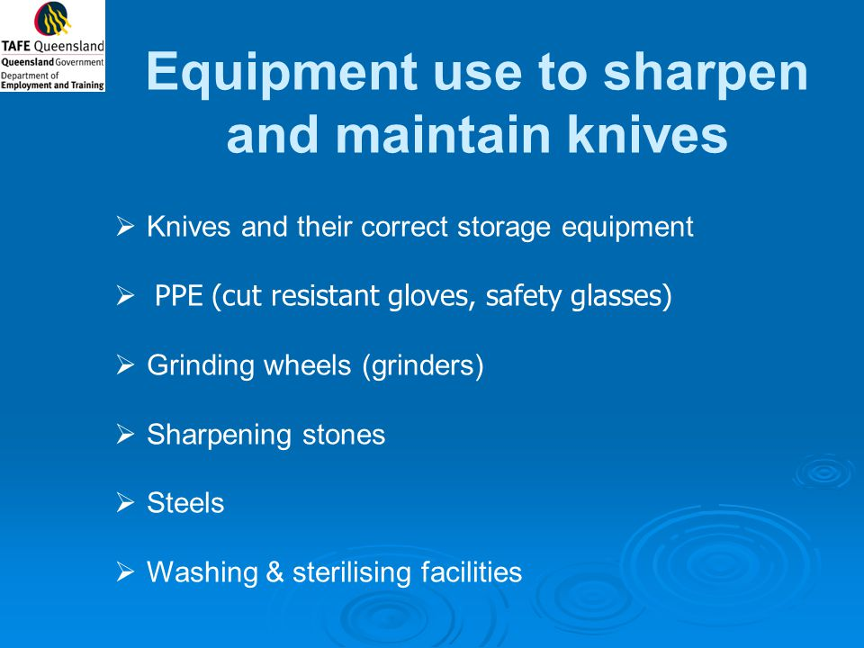 Equipment use to sharpen and maintain knives