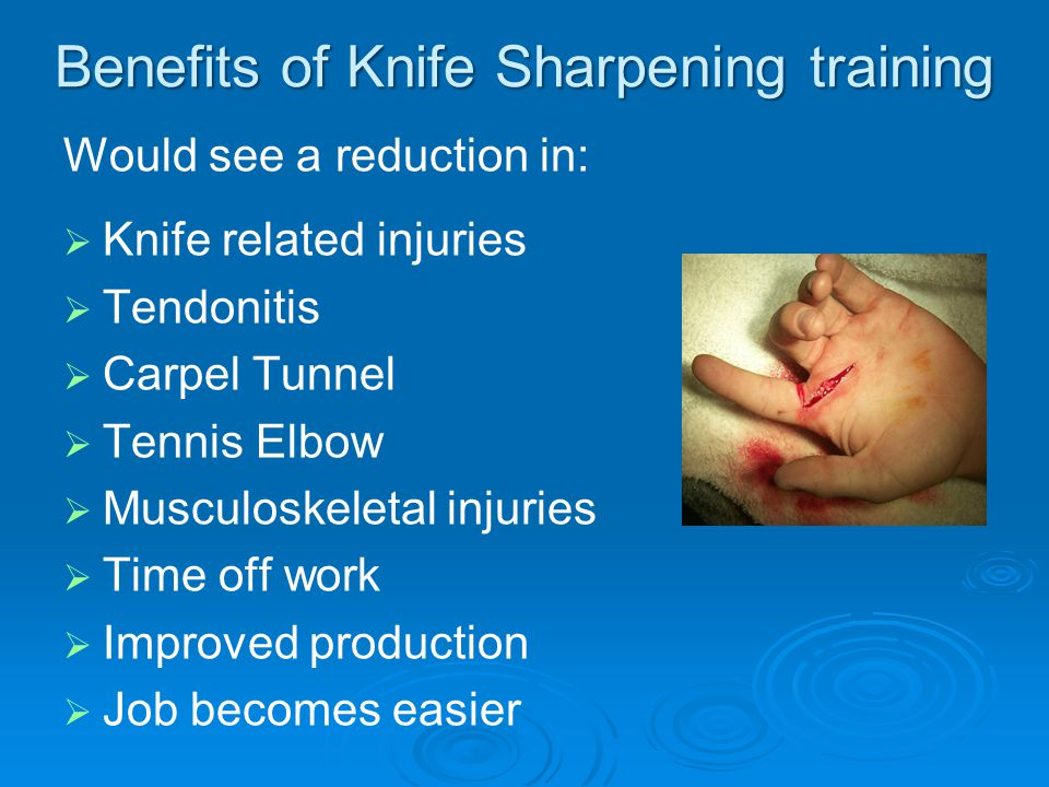 Benefits of Knife Sharpening training