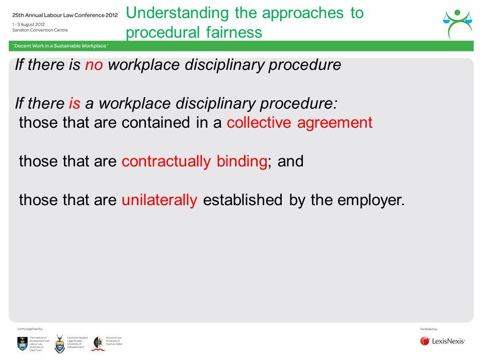 Understanding the approaches to procedural fairness