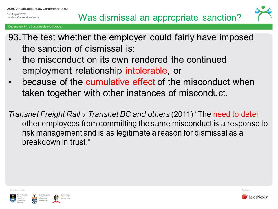 Was dismissal an appropriate sanction