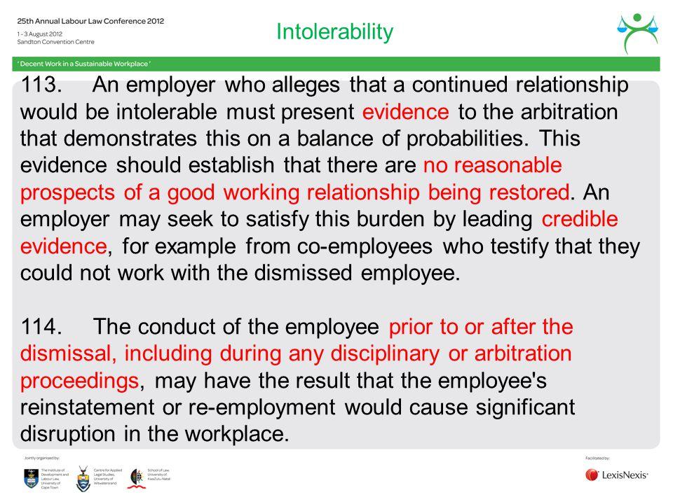 Intolerability