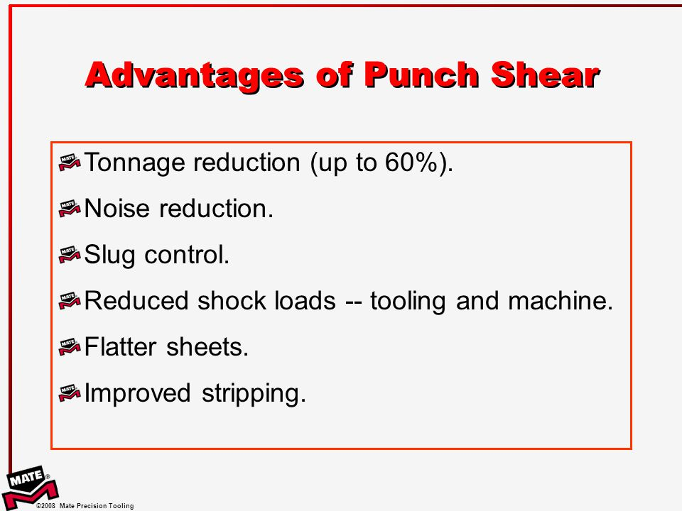 Advantages of Punch Shear