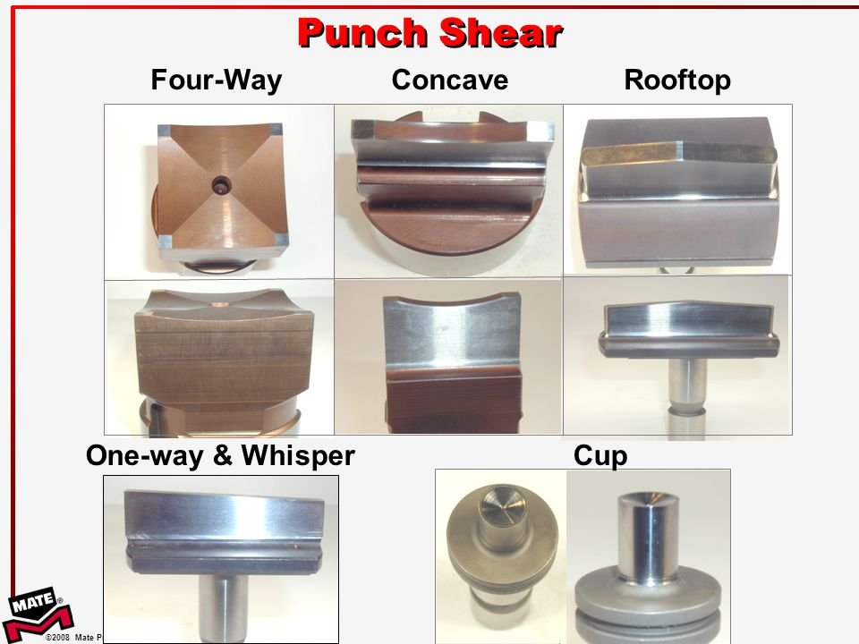 Punch Shear One-way & Whisper Cup Concave Rooftop Four-Way