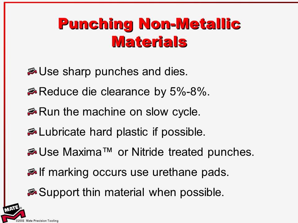 Punching Non-Metallic Materials