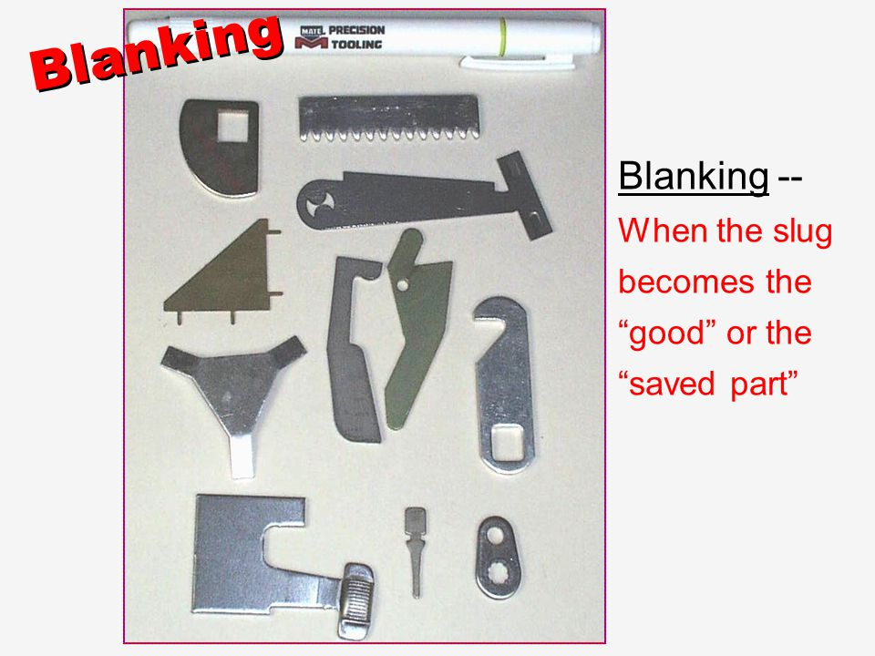 Blanking Blanking -- When the slug becomes the good or the saved part