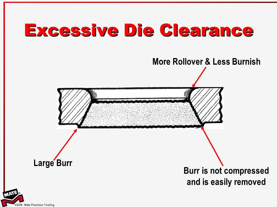 Excessive Die Clearance