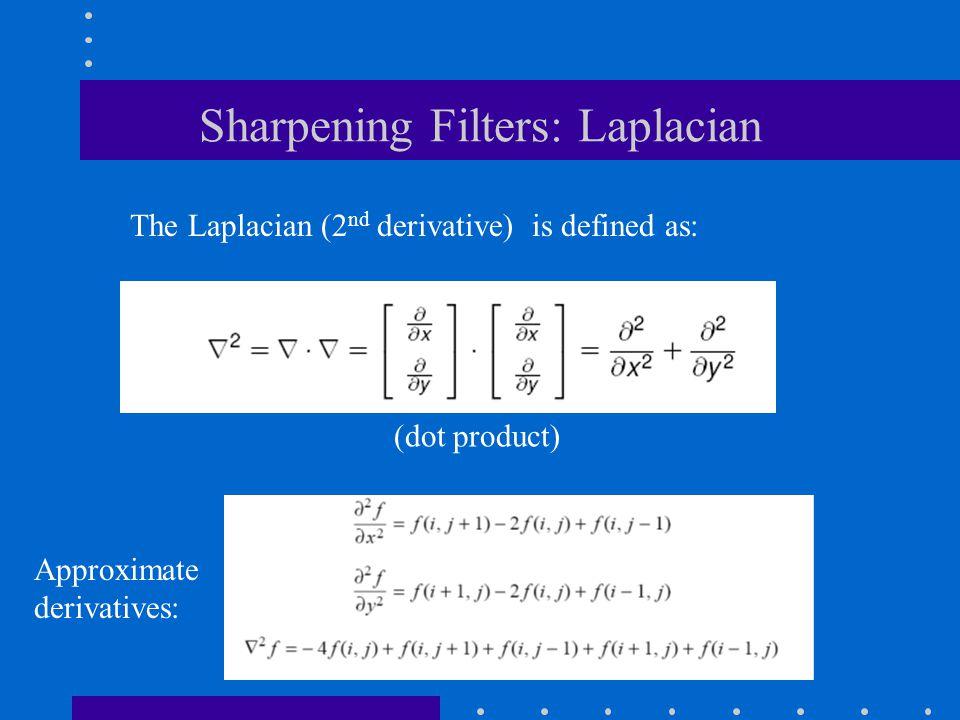 Sharpening Filters: Laplacian