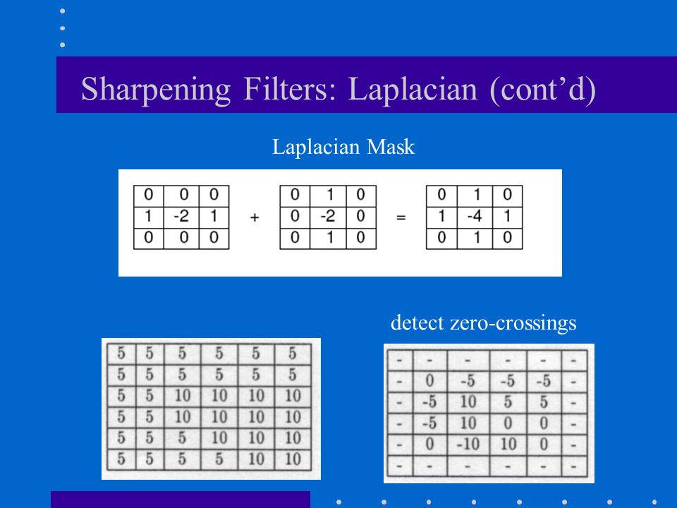 Sharpening Filters: Laplacian (cont'd)