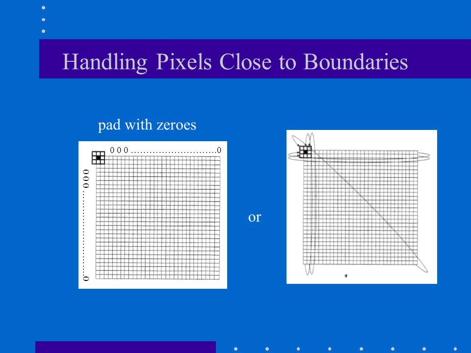 Handling Pixels Close to Boundaries
