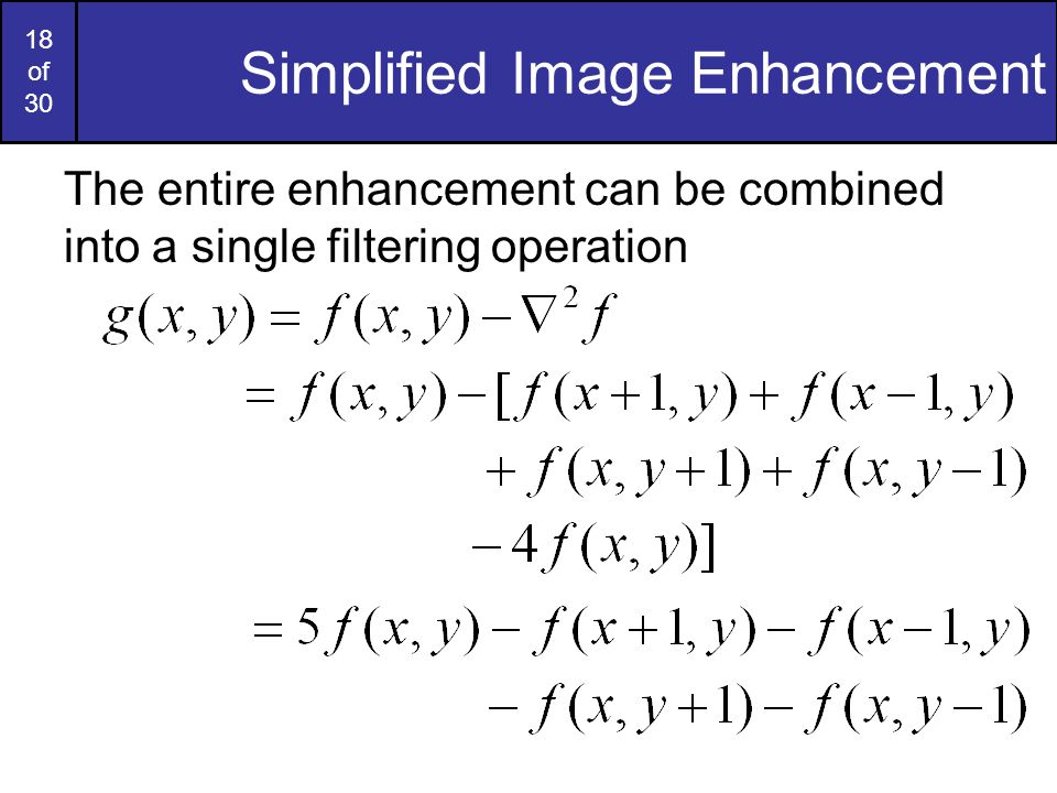Simplified Image Enhancement