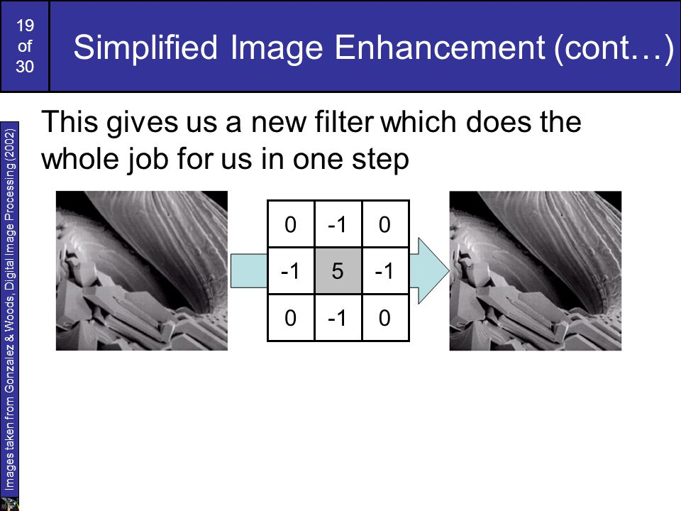 Simplified Image Enhancement (cont…)