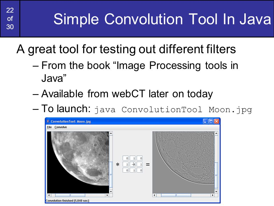 Simple Convolution Tool In Java