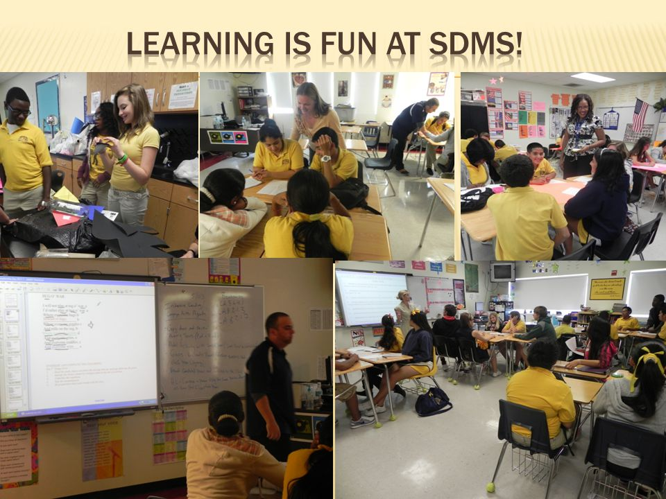 Learning is fun at SDMS!
