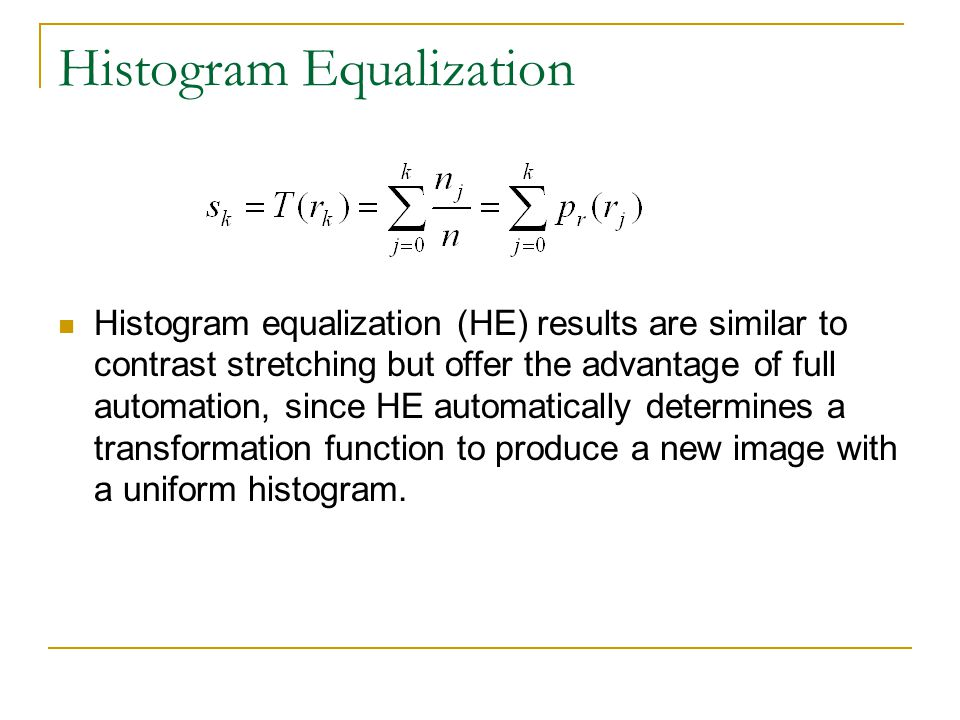 Histogram Equalization